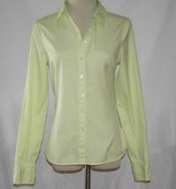 Tommy Hilfiger Light Lime Green Cotton Button Front Shirt Size 6 -NOWT- #2019 - $24.00
