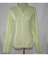 Tommy Hilfiger Light Lime Green Cotton Button Front Shirt Size 6 -NOWT- ... - $24.00