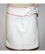 ROBIN NAYLOR BAY HEAD White & Pink Mini Skirt Size 2   #1036 - $32.00