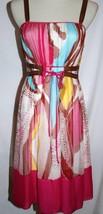 Diane Von Furstenberg Silk Dani Dress Size 2 Hot Pink Multi-Colored #883 - $149.00