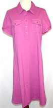 DENIM & COMPANY Stretch Polo Dress Small NWT Fushia Pink  D182 - $20.00
