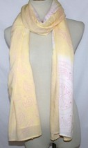 Cool Change Resort Wear Yellow /  Pink Cover-Up Sarong Scarf Shawl Pareo Wrap - $34.00