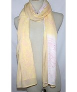 Cool Change Resort Wear Yellow /  Pink Cover-Up Sarong Scarf Shawl Pareo... - $34.00