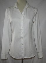 Tommy Hilfiger White Cotton Button Front Shirt Size 4  -NOWT- #2020 - $24.00