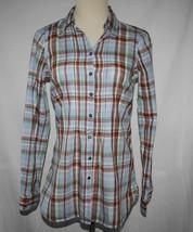 Tommy Hilfiger Plaid Cotton Button Pintuck Pleat Front Shirt Size 4 -NOWT- #2021 - $28.00
