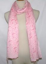 Calypso Christiane Celle Light Pink Bird Cover-Up Sarong Scarf Shawl Pareo Wrap - $25.00