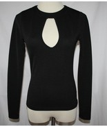 TOBI Black Poly Spandex Slim Stretch L/S Open Back Sexy Top Small #2022 - $40.00