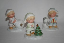 HOMCO #5613 Christmas Children Boys Figurines Set of 3    #1483 - $18.00