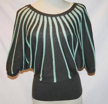 Cut25 Gray Seafoam Striped Batwing Sweater Top X-Small    #1847 - $46.00