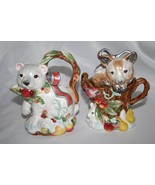 FITZ & FLOYD Enchanted Holiday Creamer and Covered Sugar   #1322 - $35.00