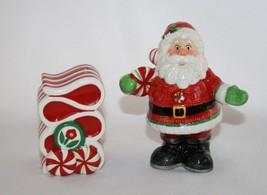 Fitz & Floyd Peppermint Santa Salt & Pepper Shaker Set   -Never Used-   #985 - $20.00