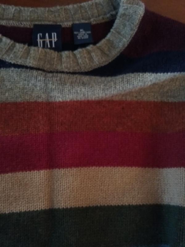 XL GAP Lambs Wool Striped Sweater