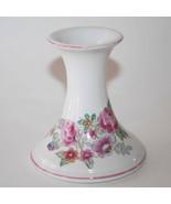 Elizabeth Arden Japan White Pink Floral Candlestick Holder   #1772 - $10.00