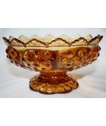 Vintage Handmade Fenton Amber Glass Hobnail 6 Candle Holder  #371 - $35.00