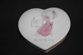 "Precious Moments Jonathan & David Heart Trinket Box ""You Are My Song""  #... - $10.00"