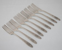 Oneida Community Silverplate 1923 -Bird of Paradise- Set of 9 Dinner For... - $48.00
