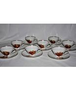 Bareuther Waldsassen Bavaria Fruit Nut Berry Set of 8 Cups & Saucers -EU... - $120.00