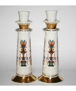 "Lenox Lido -Set of 2- Hand Decorated with 24k Gold 8"" Candlesticks  #1917 - $85.00"