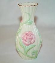 Lenox China Pink Rose Bud Vase Gold Trim   #1524 - $12.00