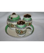Vintage NORITAKE ROSEARA Salt Pepper Condiment Set on Tray  #680 - $100.00