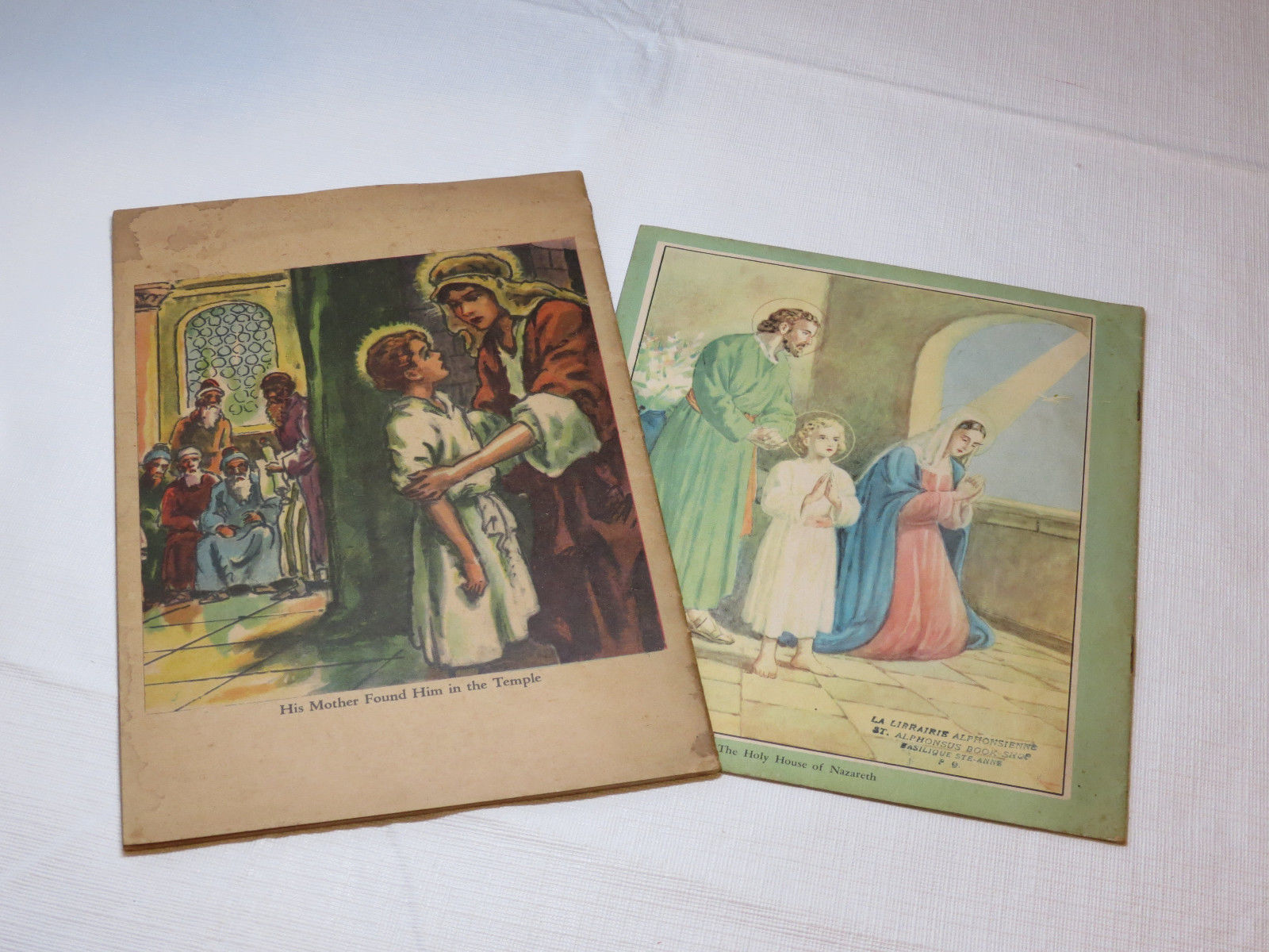 2 books The Story of the Holy Flamily & When Our Lord was a Baby 1946 RARE