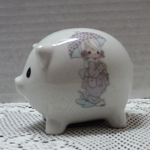 Vintage Enesco Precious Moments Miniature Piggy Bank Still Life Pig Shap... - $9.99