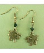 Little Sheep Bronze Dangle Earrings - $9.95