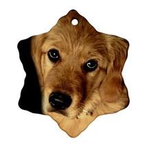Golden Retriever Puppy Puppies Dogs Pet Snowflake Ornaments Decoration C... - $4.39