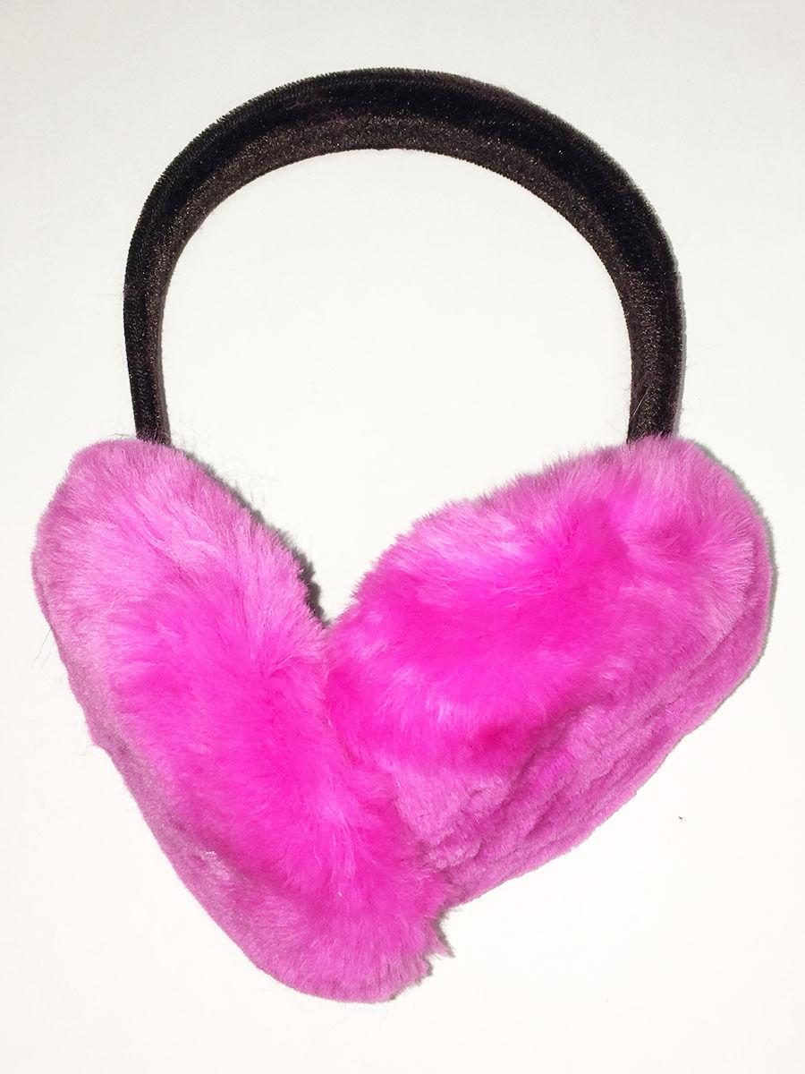 """AuSable™ Fur Natural Sheared Beaver Fur Pink Earmuffs """"Real Fur Ear Muffs"""""""