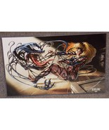 Marvel Venom Attacking Gwen Stacy Glossy Print 11 x 17 In Hard Plastic S... - $24.99