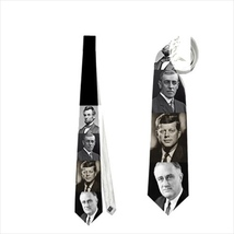 necktie Kennedy Roosevelt Woodrow Lincoln history university teacher pro... - $19.90