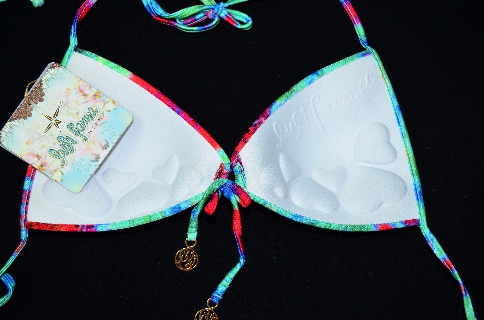 LULI FAMA Beach Fever Bikini Push-Up Top Small S NEW Swimwear Swim Push Up