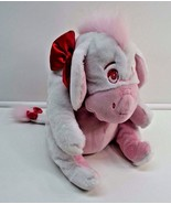 "Disney Eeyore White Pink Heart Valentines Plush Stuffed Animal 12"" - $24.74"