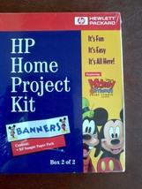 HP Home Project Kit Mickey&Friends Print Studio CD ROM Calendar Bookmark... - $29.70