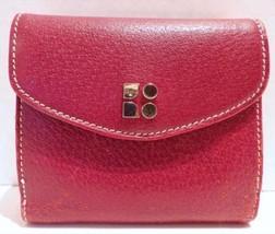 KATE SPADE Deep Red Leather Wallet Billfold Clutch - ₨1,257.69 INR