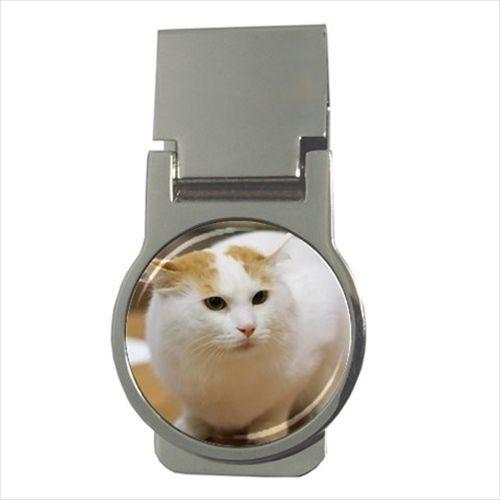 Turkish Van Chrome Money Clip - Cat Kitten