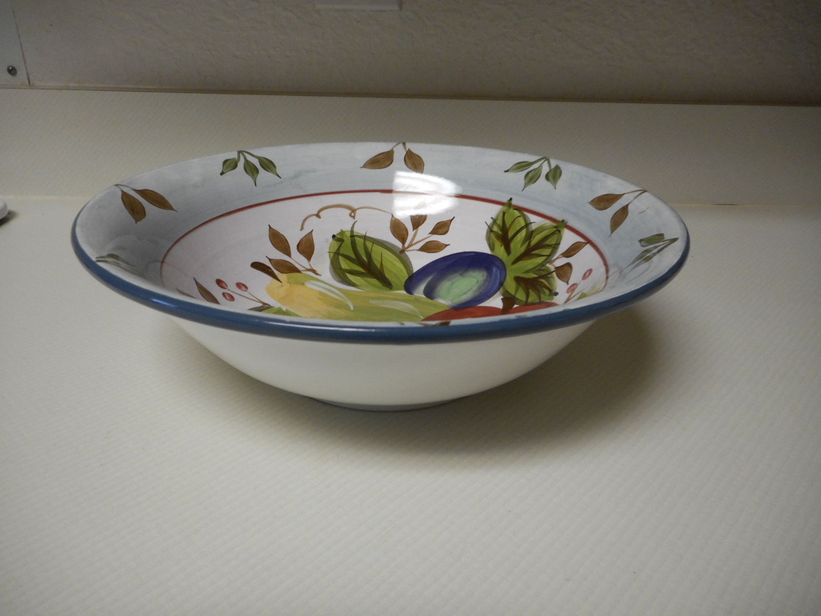 Heritage Mint Black Forest Fruit Large Serving Bowl 11 3/4 Inch Stoneware