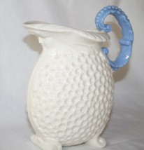 Lenox Green Mark Ivory Dimple Pitcher with Face - Blue Handle  - $68.00