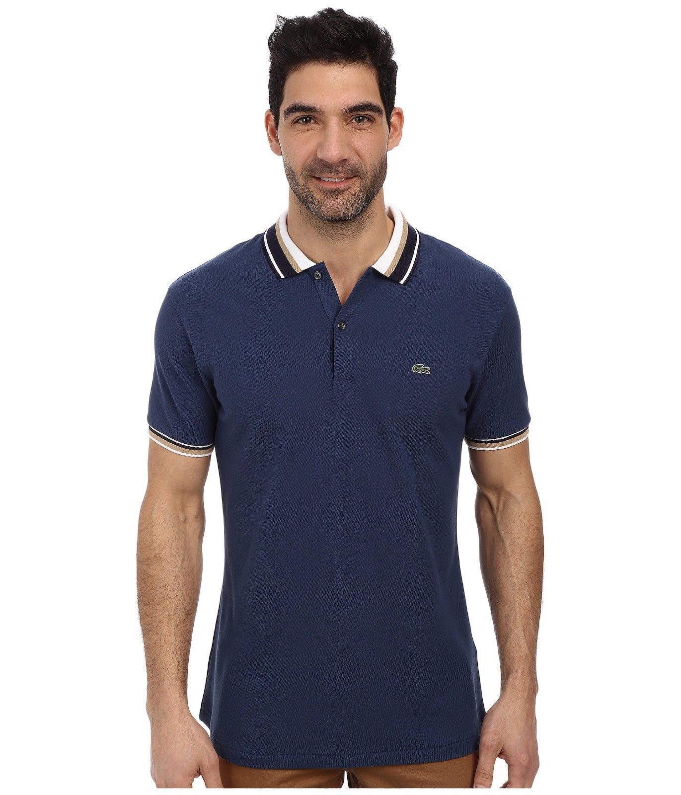 Lacoste Slim Fit Pique Polo with Neo-Piping - $110.00