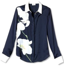 Altuzarra for Target Midnight Navy Blue Orchid Blouse Shirt Top NWT XS S M L - $25.49