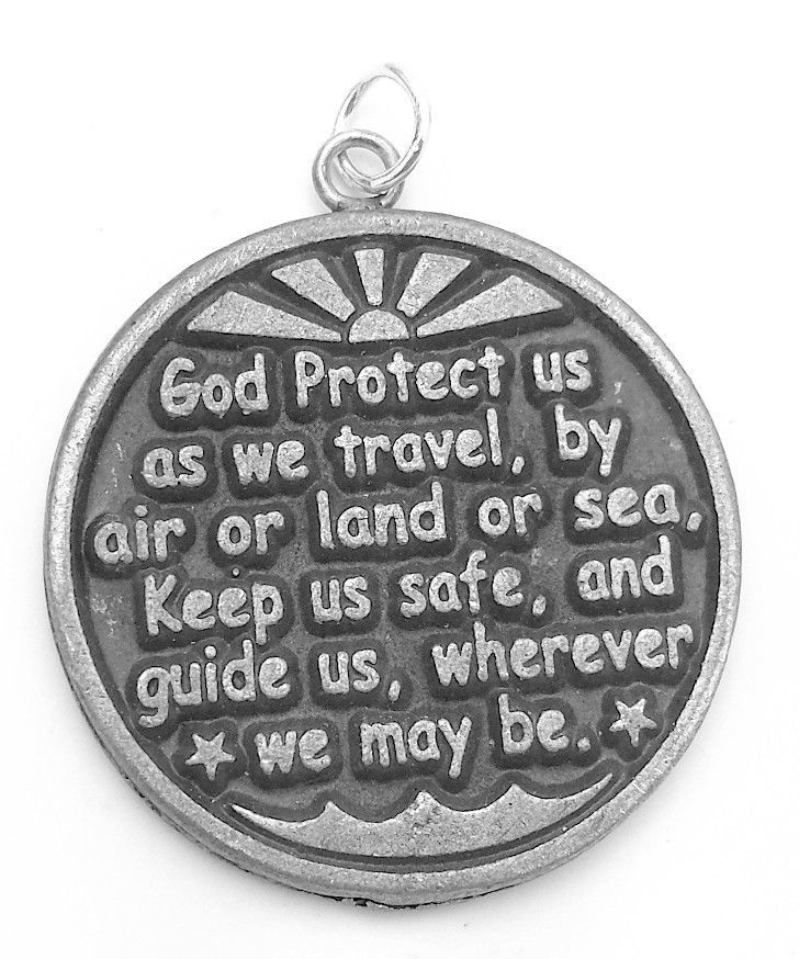 New Sterling Silver Vacation Travel God Protect Medal Charm Jewelry airplane car