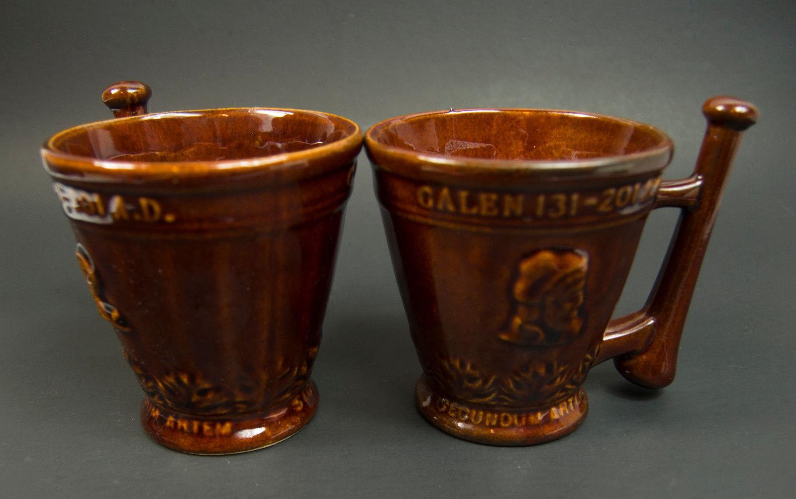 Vintage McCoy Schering  Coricidin RX Pharmacy Advertising Mug Cup Lot of 2