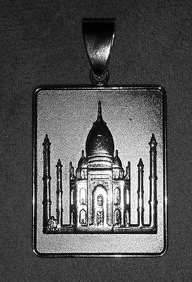 Allah Quran Sura Luqmān Taj Mahal  heavy real sterling silver 925 charm Jewelry