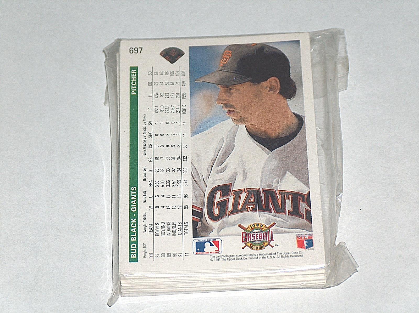 1991 UPPER DECK SF SAN FRANCISCO GIANTS MLB BASEBALL TEAM CARD SET EX W/ ROOKIES