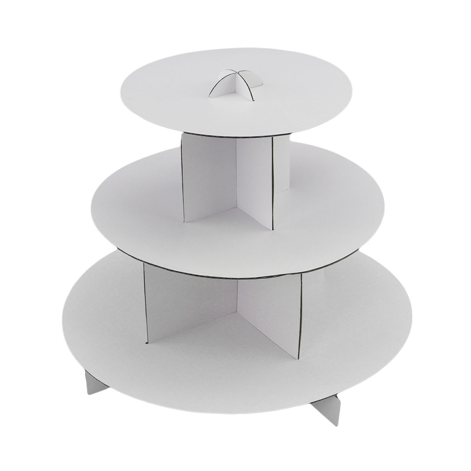 White Round or Square Cardboard Cupcake Display Stand Pastry Dessert Tower