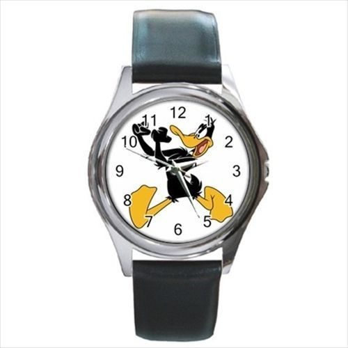 Daffy Duck Round & Square Leather Strap Watch