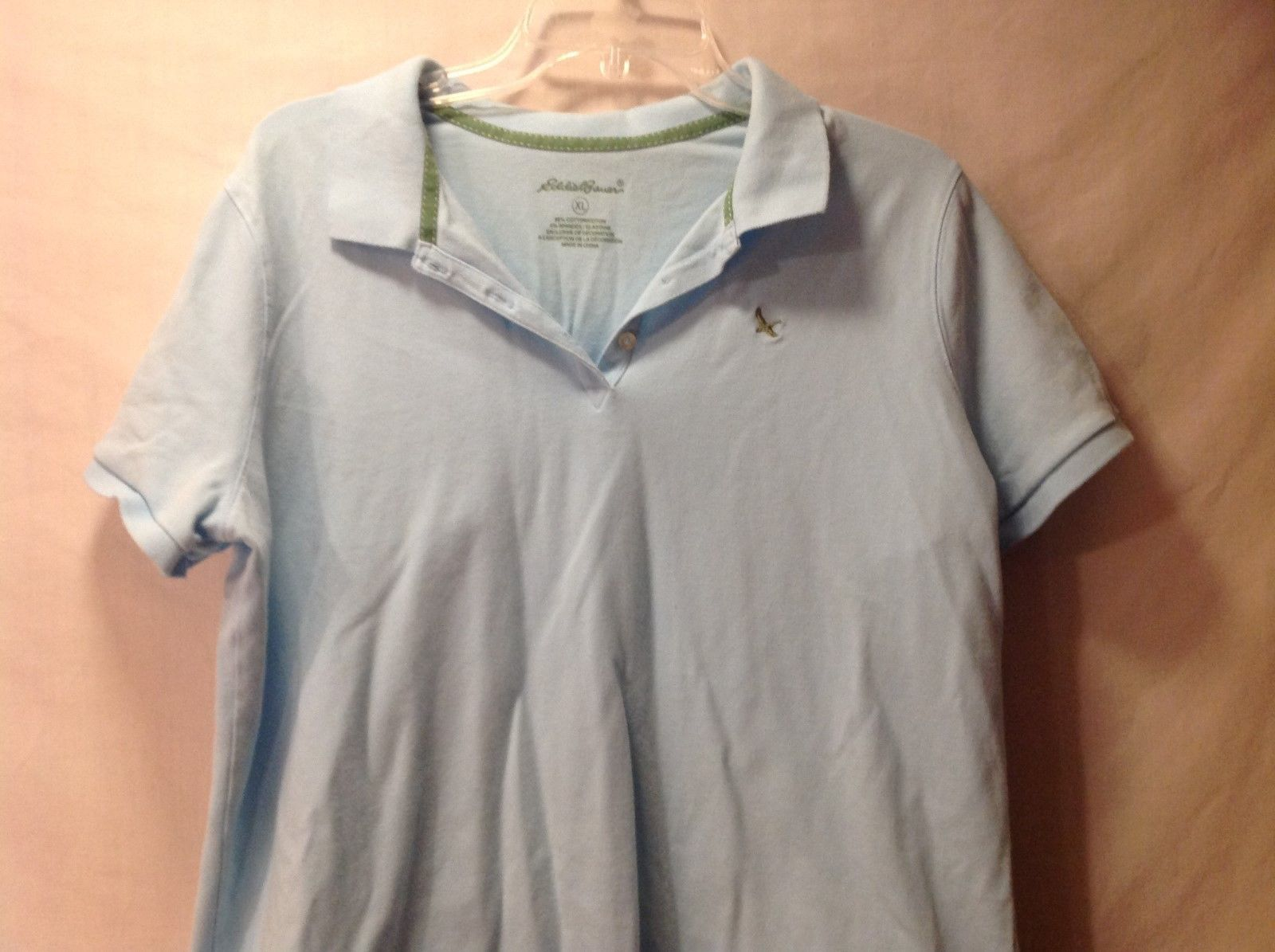 Eddie Bauer Light blue polo shirt sleeve
