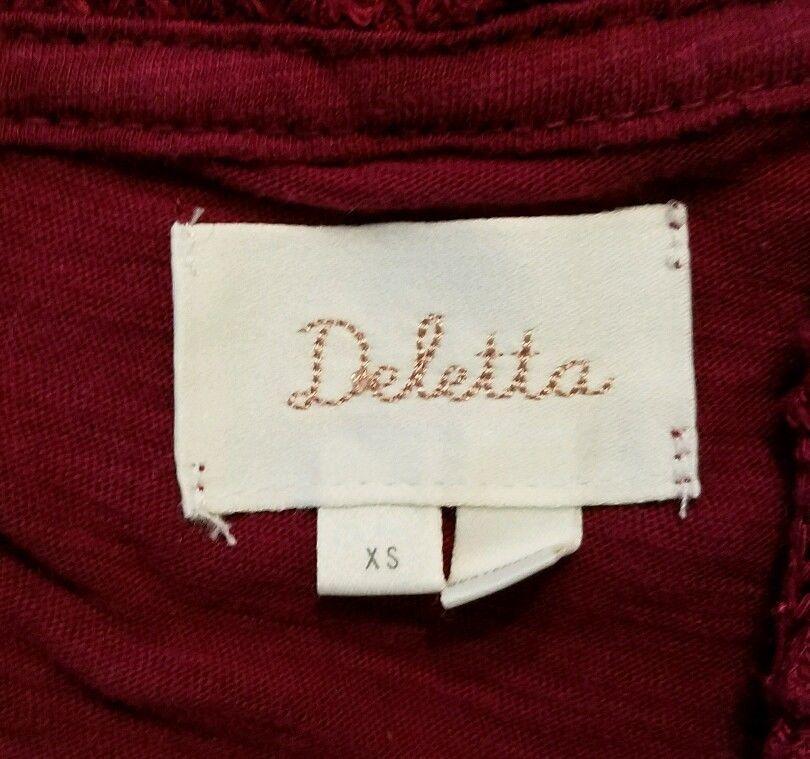Deletta Anthropologie women's XS short sleeve cowl neck