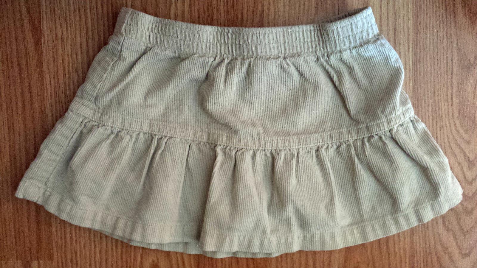 Girl's Size 2T Two Piece Bright Orange Old Navy Top & Corduroy Okie Dokie Skirt