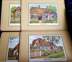 English Cottages Placemats Set Lot of 4 Pimpern... - $28.04